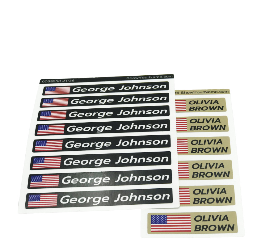 <p>Laminated quality<br />stickers with flag !</p>